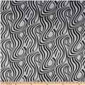 Charmeuse Satin Swirl Black White