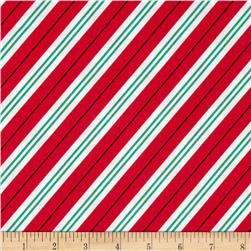 Michael Miller All the Trimmings Candy Cane Stripe Santa