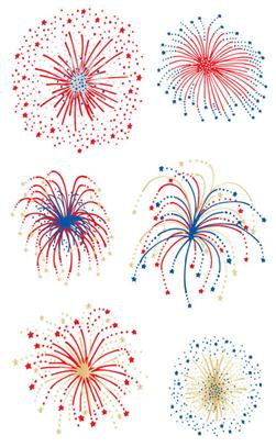 Mrs. Grossman's Stickers Fireworks Giant Size Reflections Pack