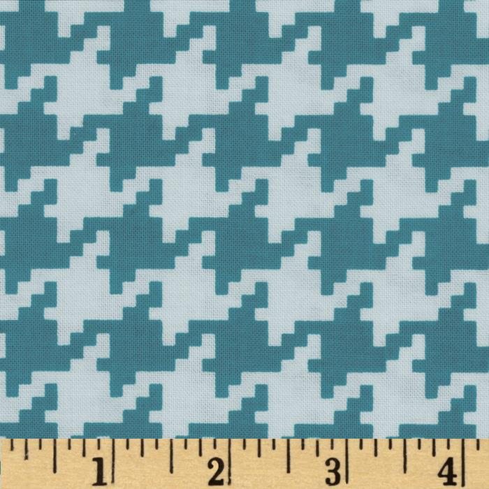 Michael Miller Everyday Houndstooth Marine
