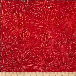 Timeless Treasures Tonga Batik Sunburst Galaxy Guava