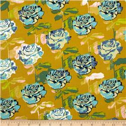 Cotton & Steel Picnic Rose Garden Mustard