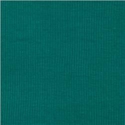 Cotton Rib Knit Teal Green