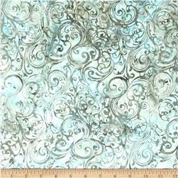 Bali Batiks Handpaints Swirls Spa Fabric