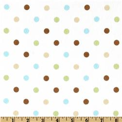 Cozy Cotton Flannel Polka Dot Chocolate Fabric