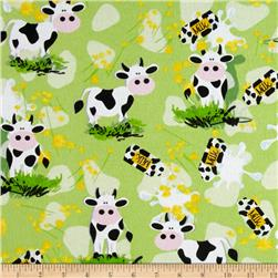 Flannel Milk Cows & Bottles Multi