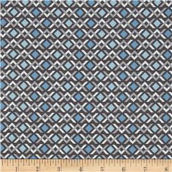 Wishing Well Diamond Geo Grey Fabric