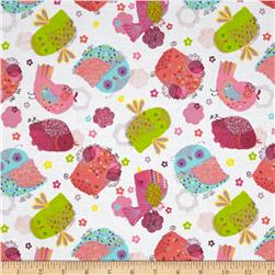 Hootenanny Large Owls White