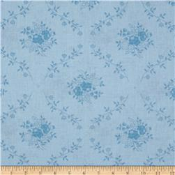 "108"" Wide Quilt Back Fleur Light Blue"