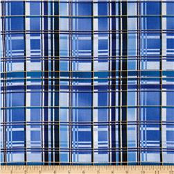 Aspen Creek Metallic Plaid Blue/Gold