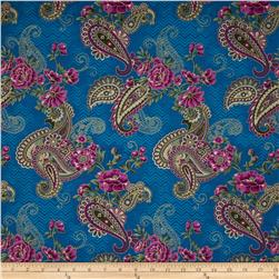 Marrakesh Metallic Paisley Blue