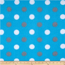 Simply Happy Dot Fleece Grey/Blue