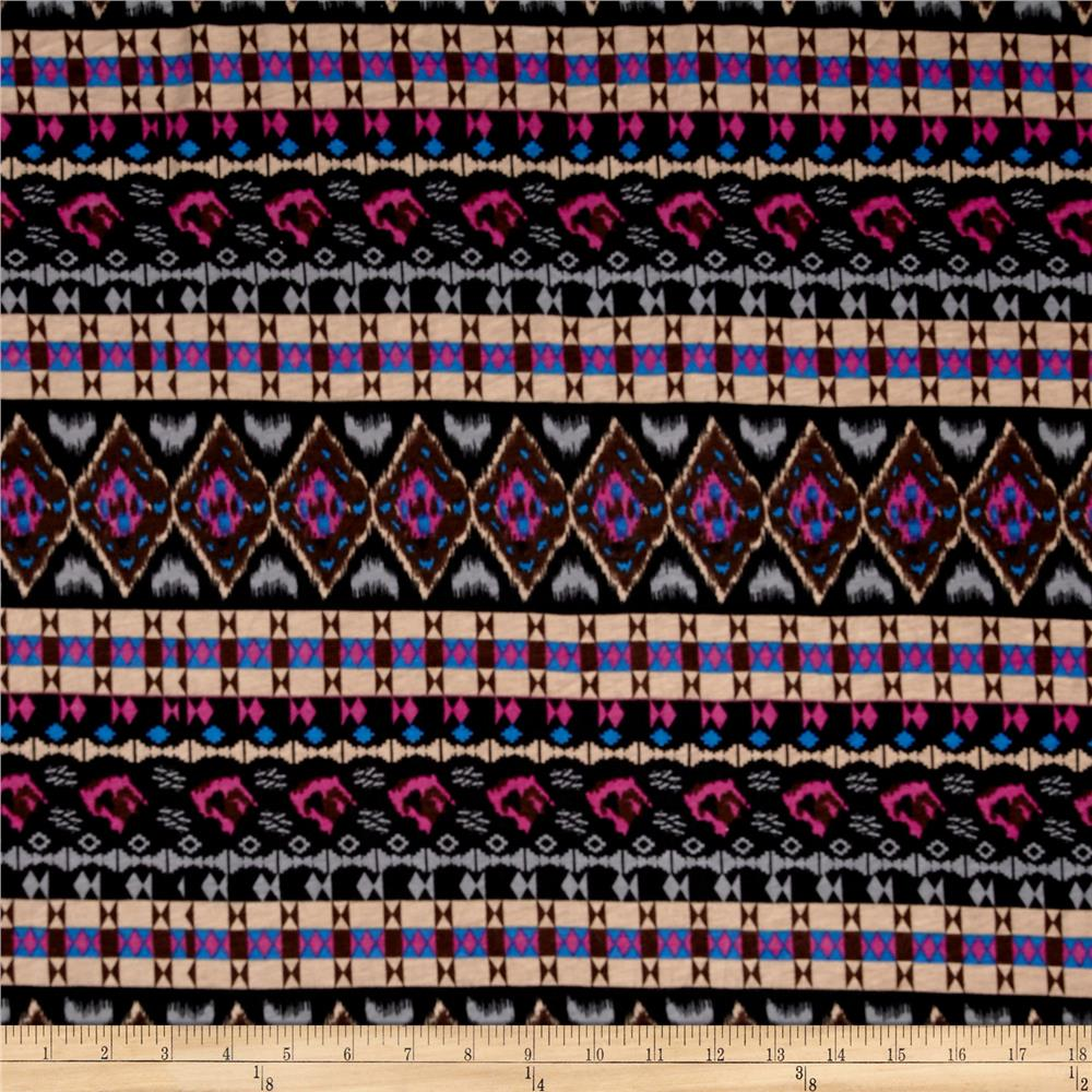 Fashion Jersey Knit Aztec Black/Grey/Tan/Brown/Magenta/Blue