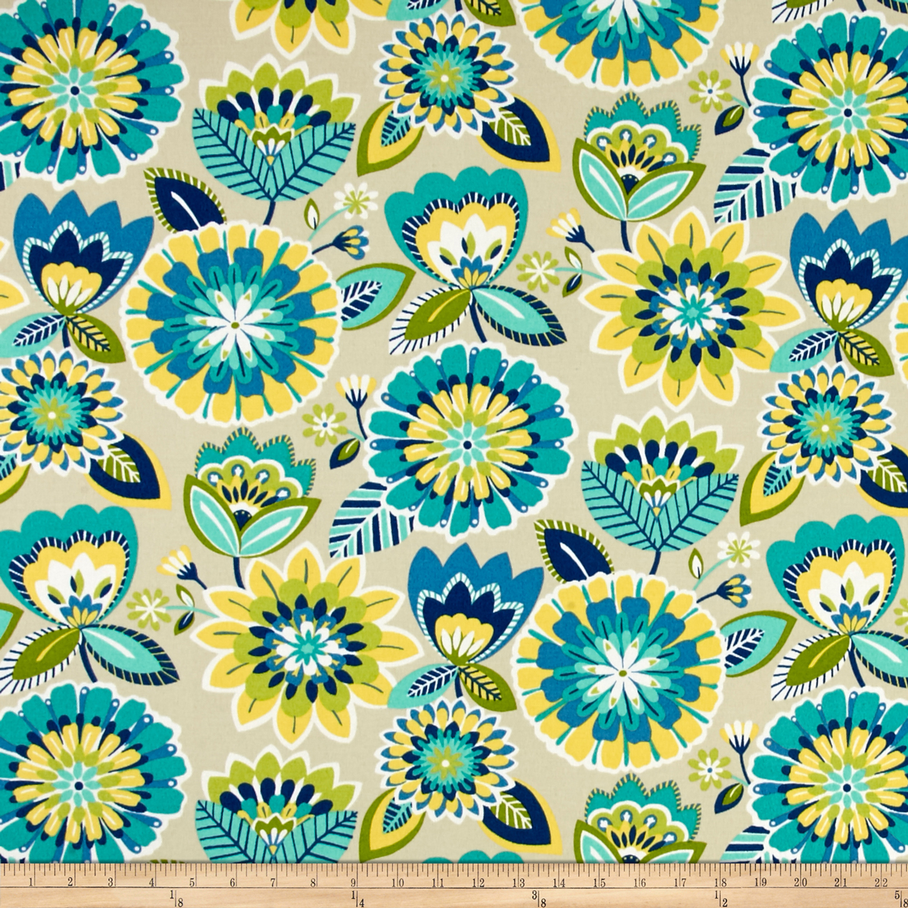 Bryant Indoor/Outdoor Gazebo Floral Lagoon Fabric by Bryant in USA