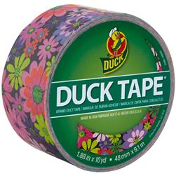 "Patterned Duck Tape 1.88"" x 10yd-Bright Flowers"
