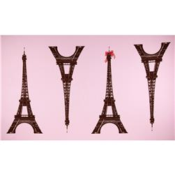 Kokka Canvas Paris Panel Eiffel Tower Large Pink
