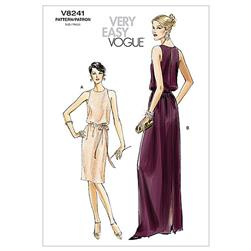 Vogue Misses'/Misses' Petite Dress and Belt Pattern V8241 Size AA0