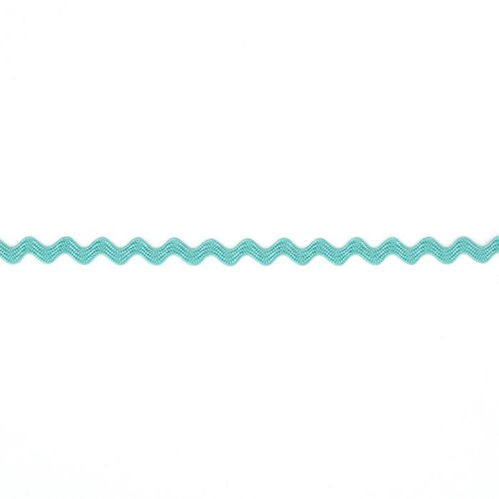 "1/8"" Ric Rac Rayon Mini Trim Aqua Blue"