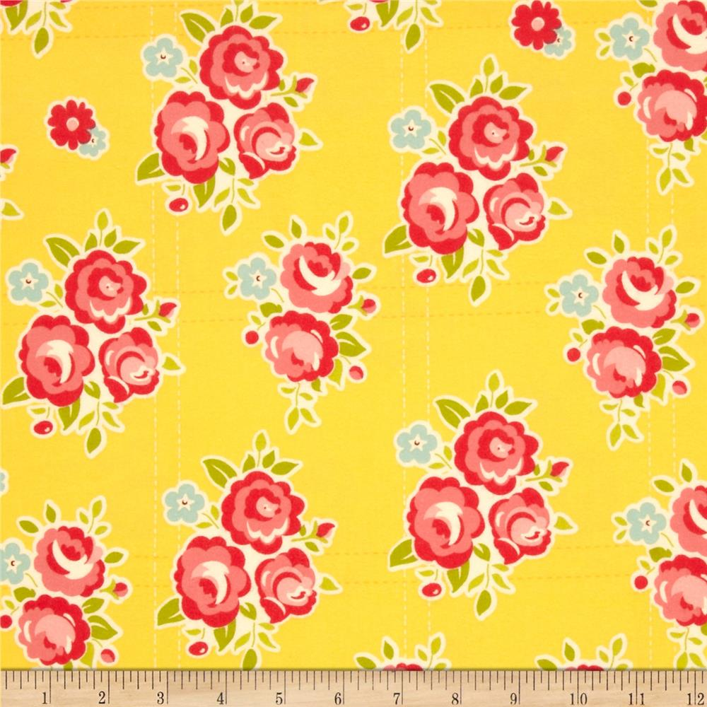 Riley Blake Sidewalks Flannel Floral Yellow