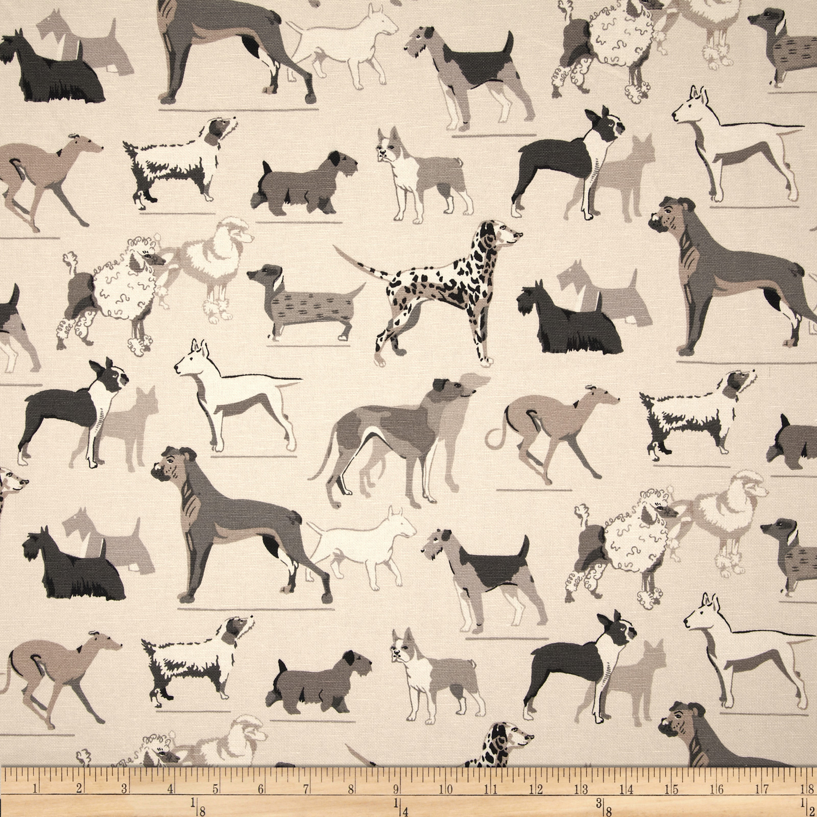Image of Duralee Dog Show Blend Greystone Fabric