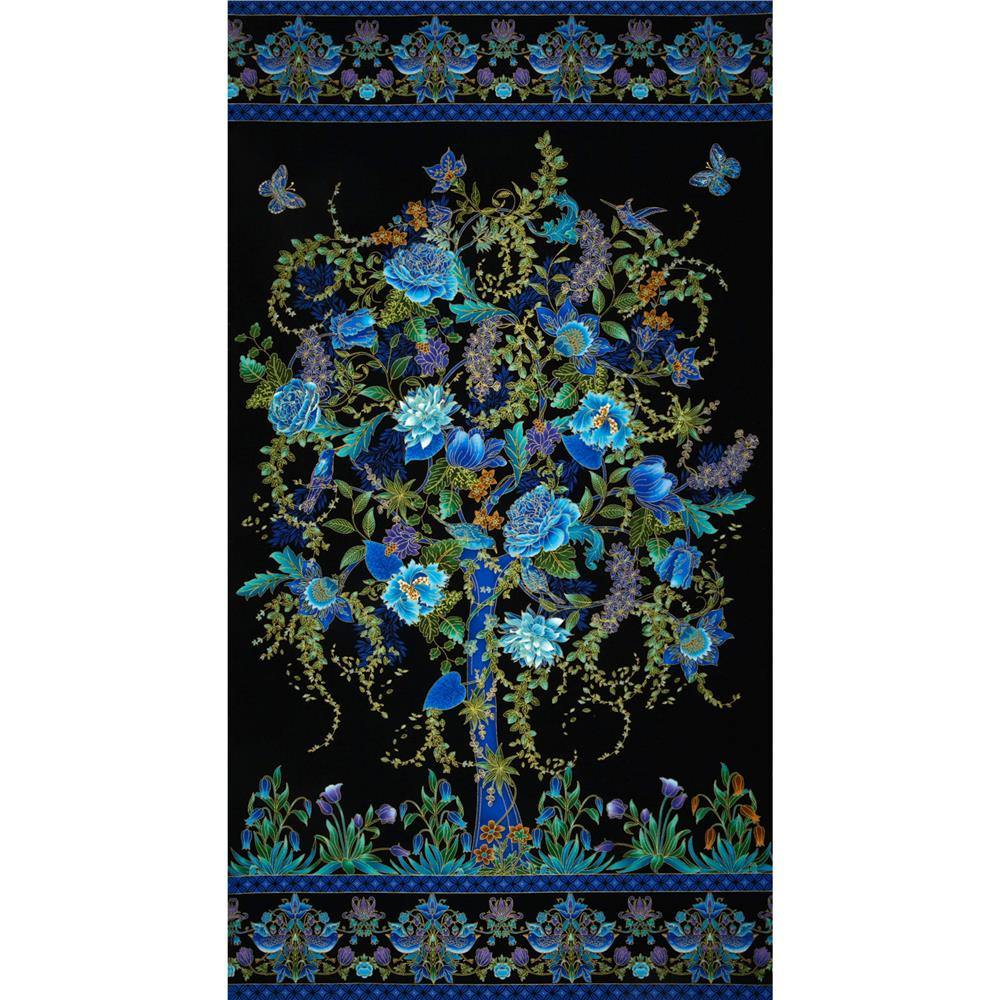 Timeless Treasures Tree of Life Metallic Eden Panel