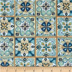 Majestic Beauties Tiles Blue