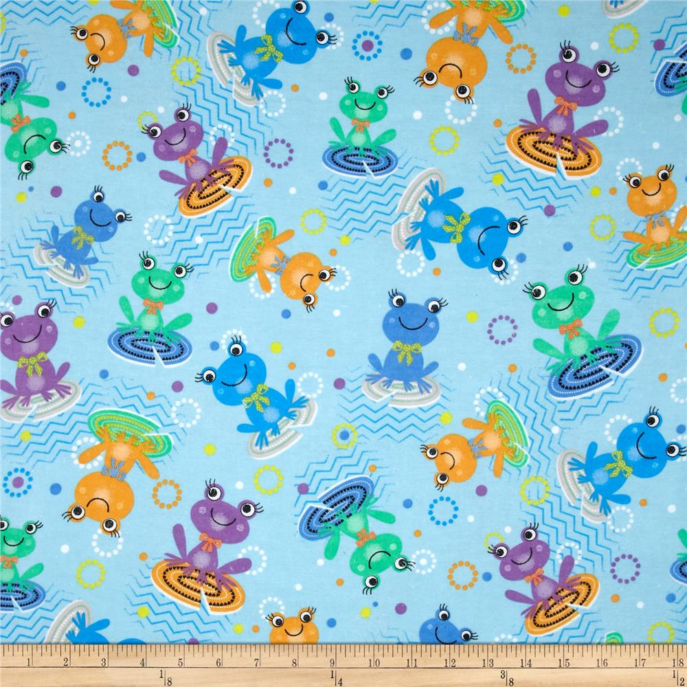 Flannel Frogs Lilypad Multi