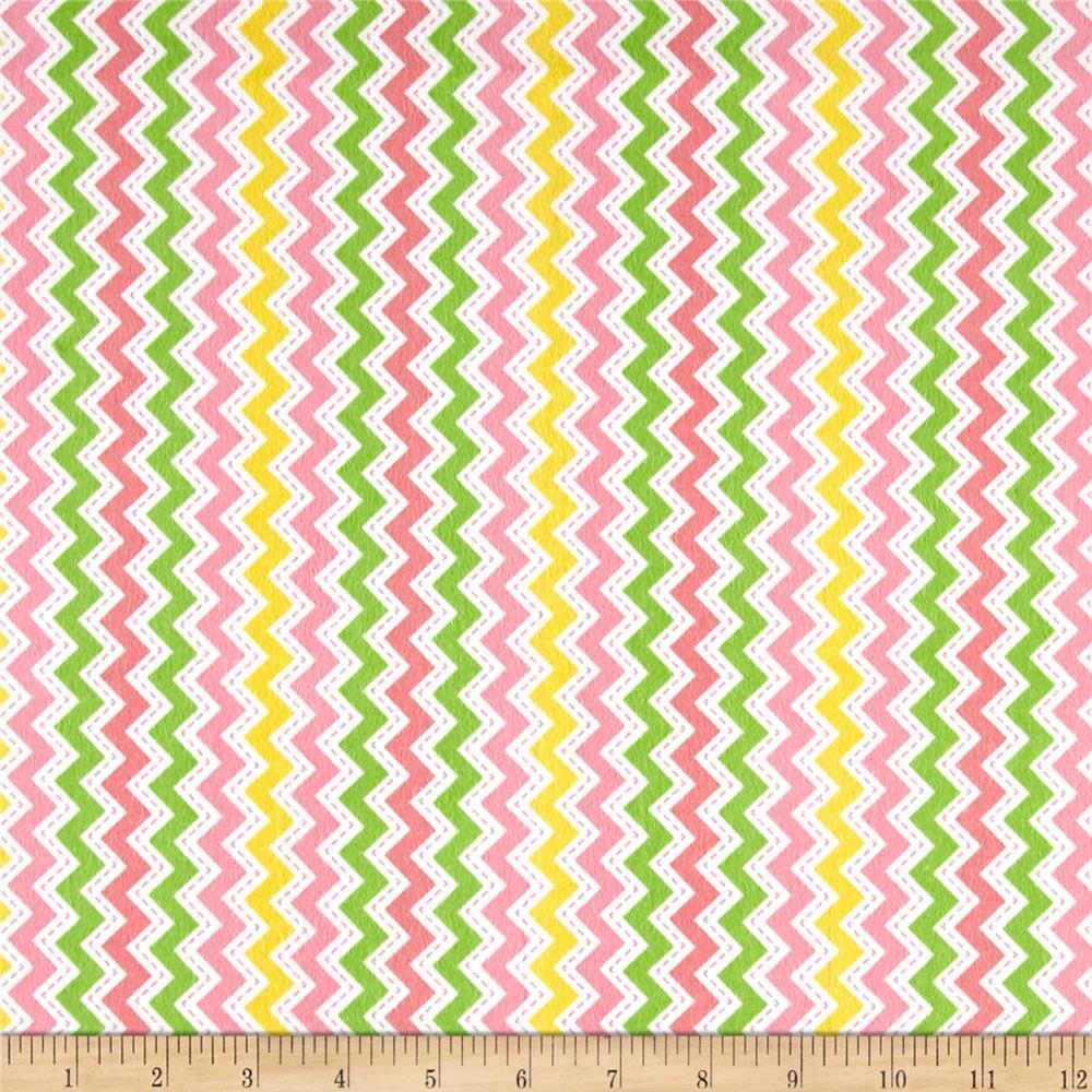 Kimberbell Little One Flannel Too! Zig Zag Pink