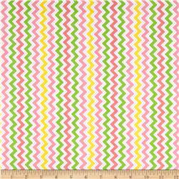 Kimberbell Little One Flannel Too! Flannel Zig Zag Pink