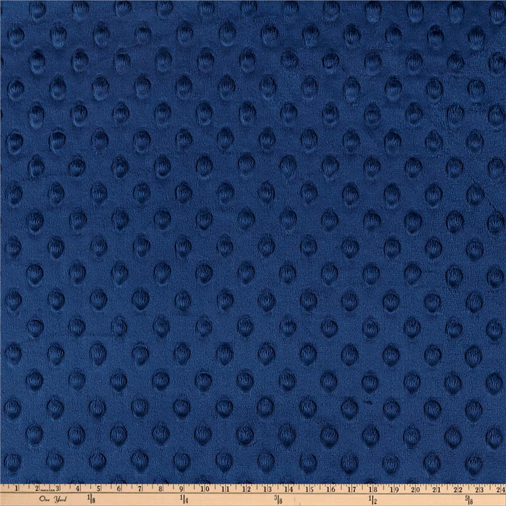 Shannon Minky Cuddle Dimple Dot Navy