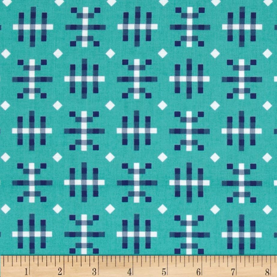 Anna Maria Horner Honor Roll Misguided Gingham Teal
