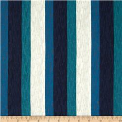 Cotton & Steel Homebody Paneling Stripe Navy Fabric