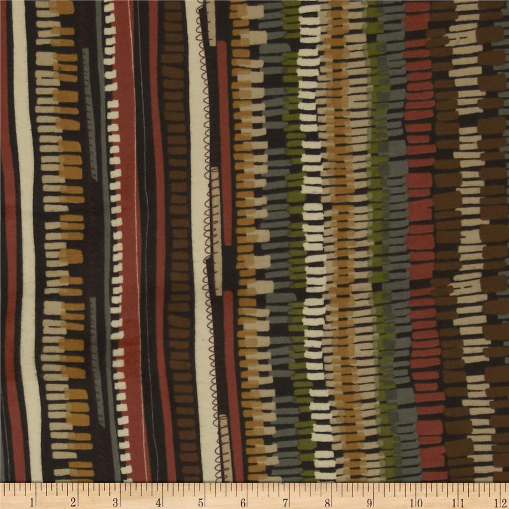 Leafhaven Flannel Weave Stripe Espresso Fabric By The Yard