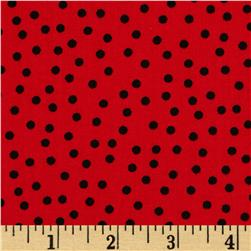 Robert Kaufman Remix Scattered Small Dots Red