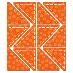 "AccuQuilt GO! Die Half Square 2"" Finished Triangle-Multiples (55063)"