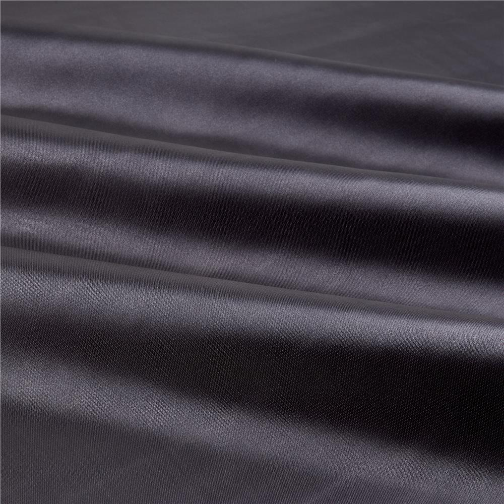 Slipper Satin Charcoal Fabric By The Yard