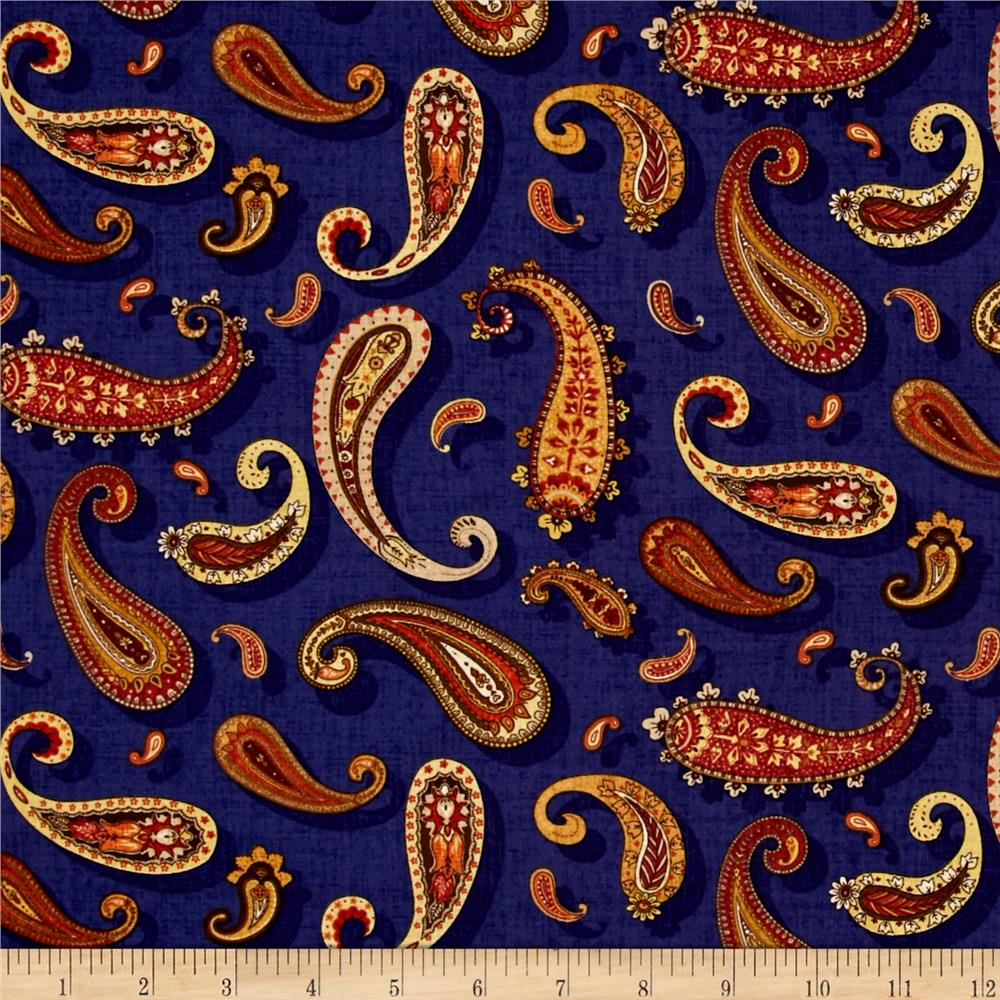 Royal Paisley Paisley Blue/Gold