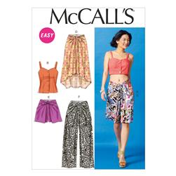 McCall's Misses' Tops, Skirts, Shorts and Pants Pattern M6968 Size A50
