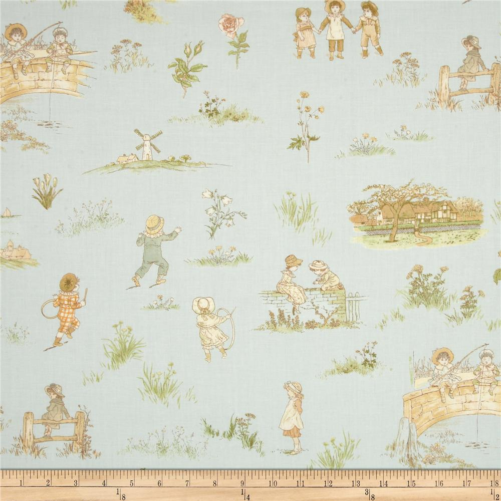 Lecien Kate Greenaway Scenic Blue