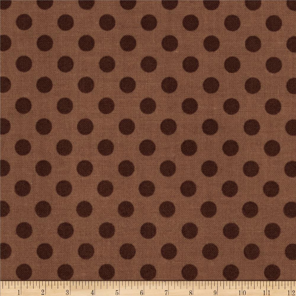 Riley Blake Basics Small Dots Brown
