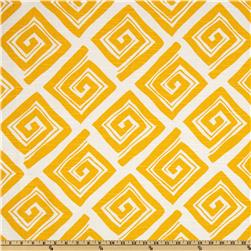 Premier Prints Maze Slub Corn Yellow