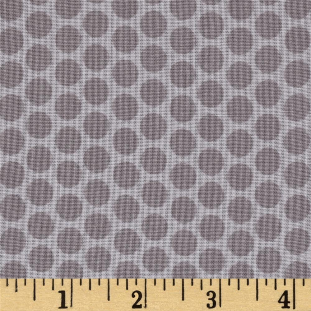 Riley Blake Honeycomb Dot Tone on Tone Gray