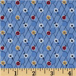Aunt Grace Miniatures Diamond Floral Blue