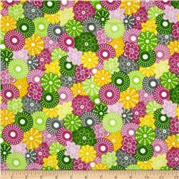 Flannel Packed Flowers Multi