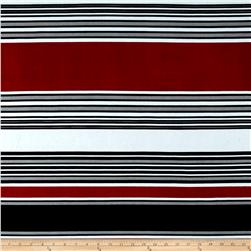 Stretch ITY Jersey Knit Emma Stripe Black Multi