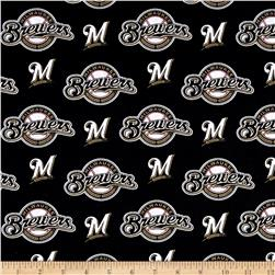 MLB Cotton Broadcloth Milwaukee Brewers Navy Black