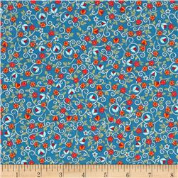 Bloomsberry Small Floral Blue