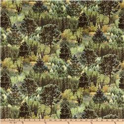Mountain View Digital Trees Sage Green