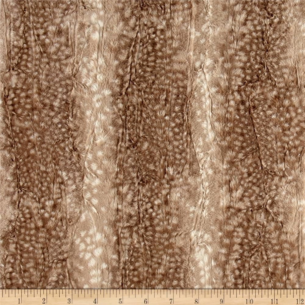 High Fashion Fabric Houston - Minky ocelot snuggle fawn