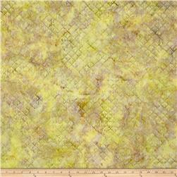 Island Batik Square Fan Light Green
